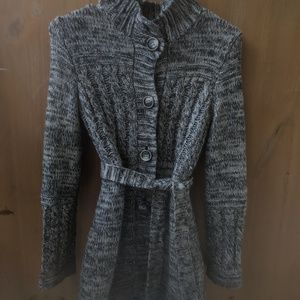 Grey mid length sweater